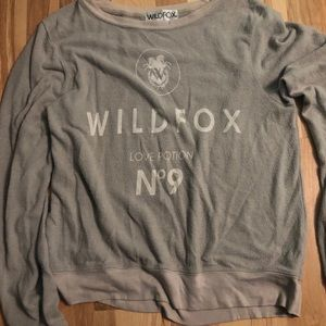 WILDFOX grey sweatshirt number 9